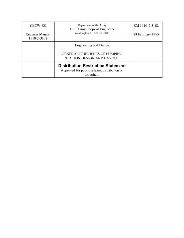 CECW-EE Engineer Manual 1110-2-3102 Department of the Army U.S. Army Corps of Engineers Washington, DC 20314-1000 EM 1110-...