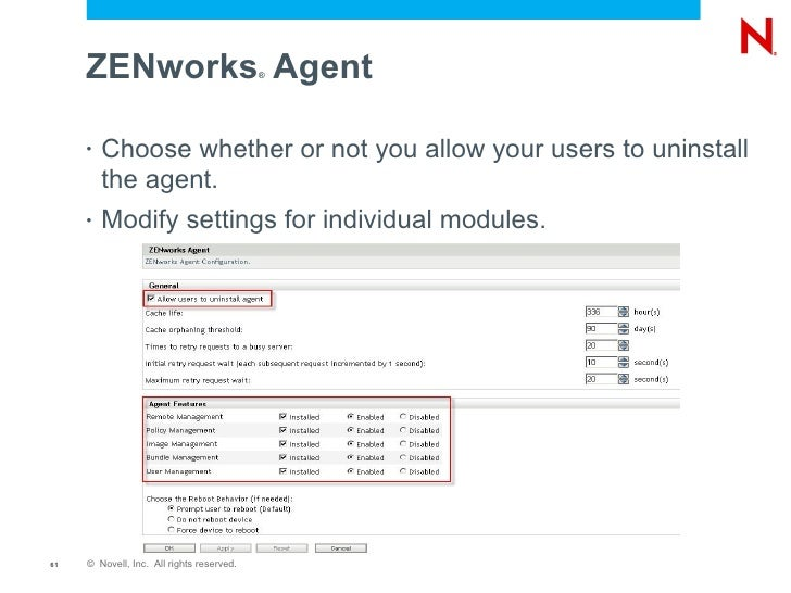 Novell ZENworks Configuration Management Design and