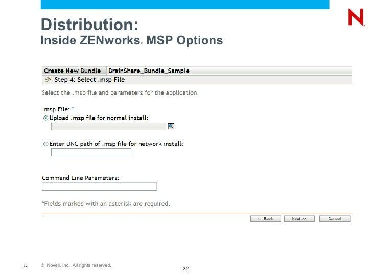 Application Repackaging Best Practices for Novell ZENworks