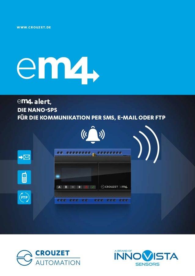 WWW.CROUZET.DE  alert, DIE NANO-SPS FÜR DIE KOMMUNIKATION PER SMS, E-MAIL ODER FTP FTP