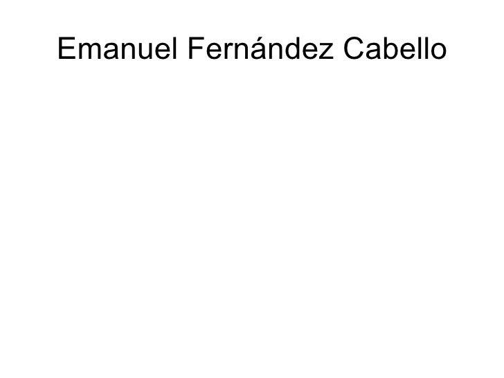 Emanuel Fernández Cabello