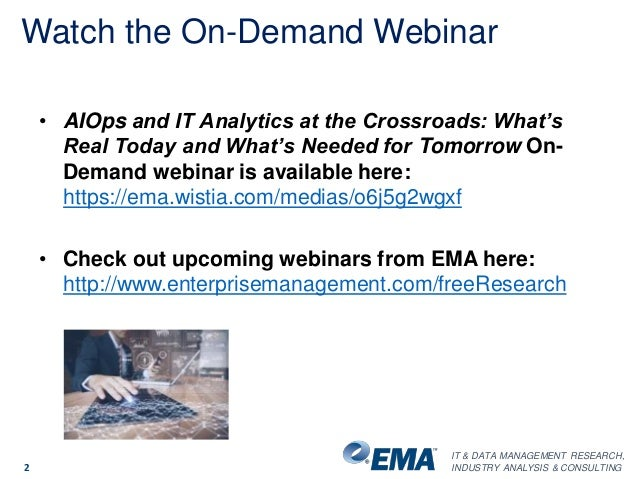 AIOps and IT Analytics at the Crossroads: What's Real Today