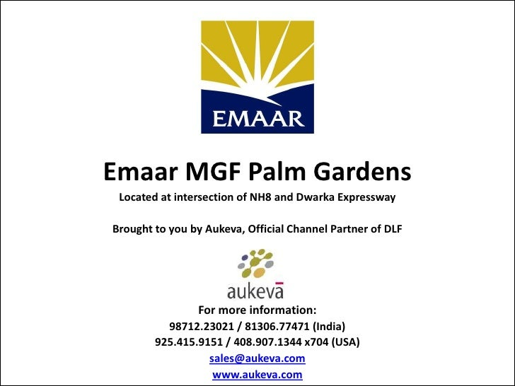 Emaar MGF Palm Gardens Located at intersection of NH8 and Dwarka ExpresswayBrought to you by Aukeva, Official Channel Part...