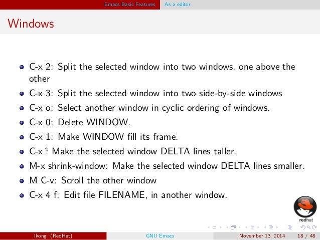Emacs presentation
