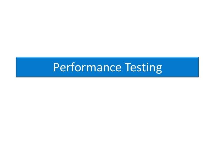 Performance Testing > PerformanceYotaaa tools