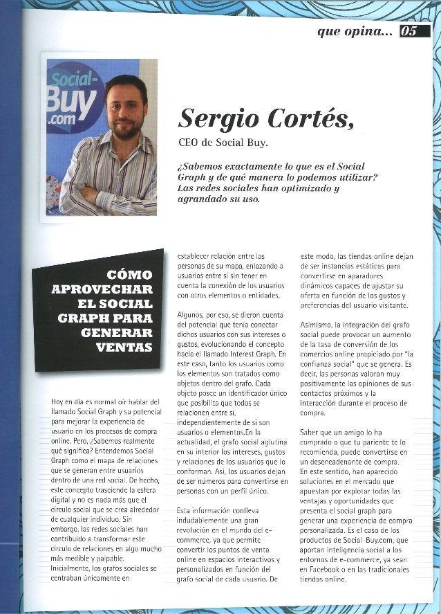 """Sergio Cortés, en la Sección """"que opina..."""" de The eMagazine"""