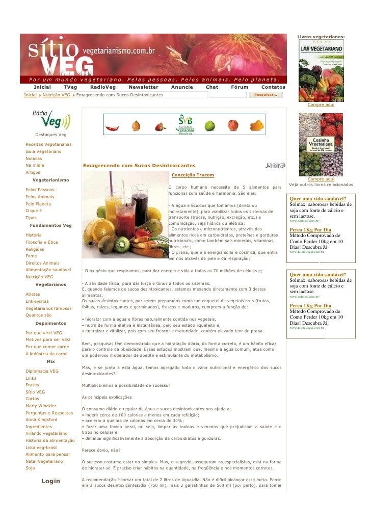 Livros vegetarianos:          Inicial        TVeg        RadioVeg           Newsletter             Anuncie       Chat     ...