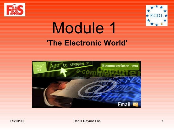 Module 1  'The Electronic World'
