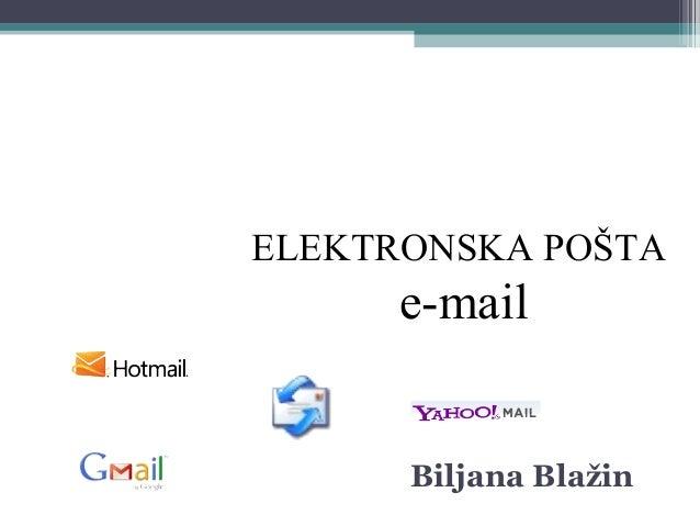 ELEKTRONSKA POŠTA e-mail Biljana Blažin