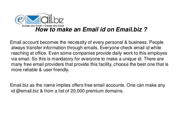 Email biz - Get Free Email Account from 20,000 Domains