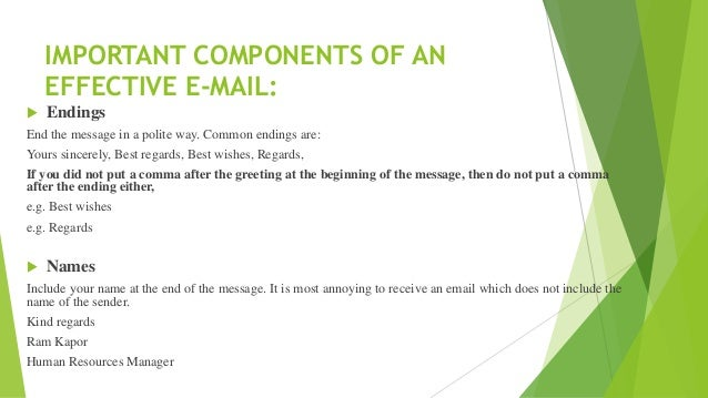 how to write regards in email