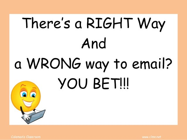 Email Etiquettte Slide 2