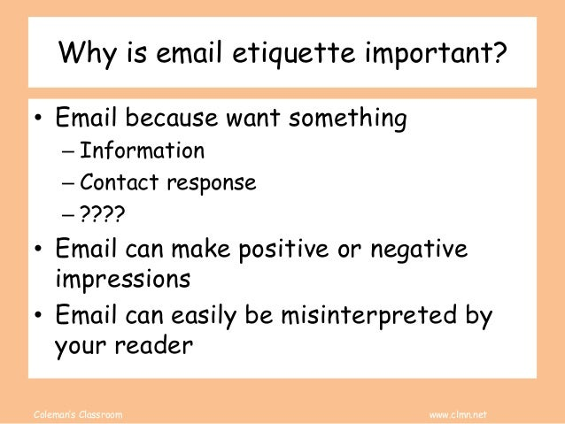 Email Etiquettte Slide 3