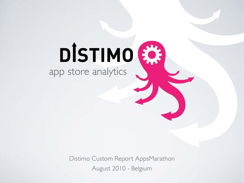 Distimo Custom Report AppsMarathon         August 2010 - Belgium