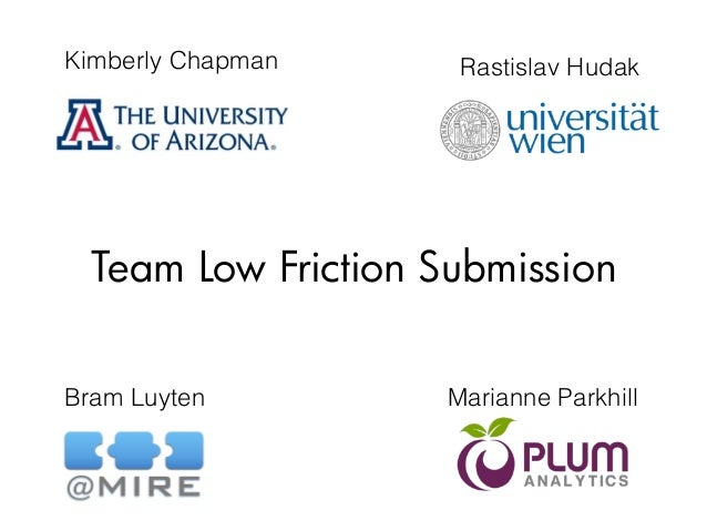 Kimberly Chapman Bram Luyten Marianne Parkhill Rastislav Hudak Team Low Friction Submission