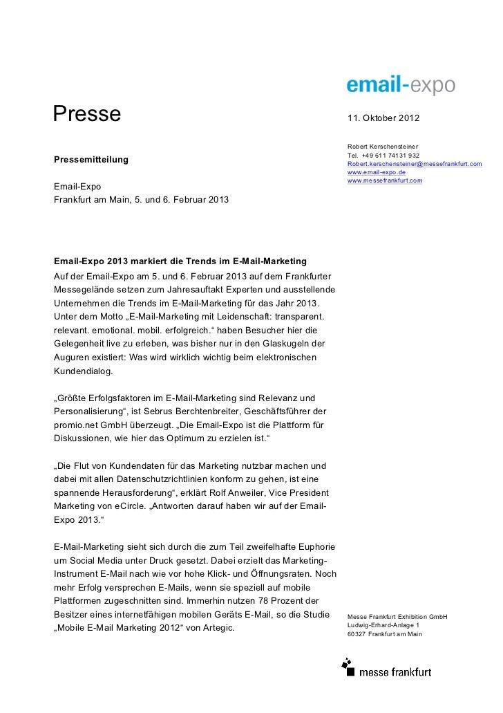 Presse                                                                 11. Oktober 2012                                   ...