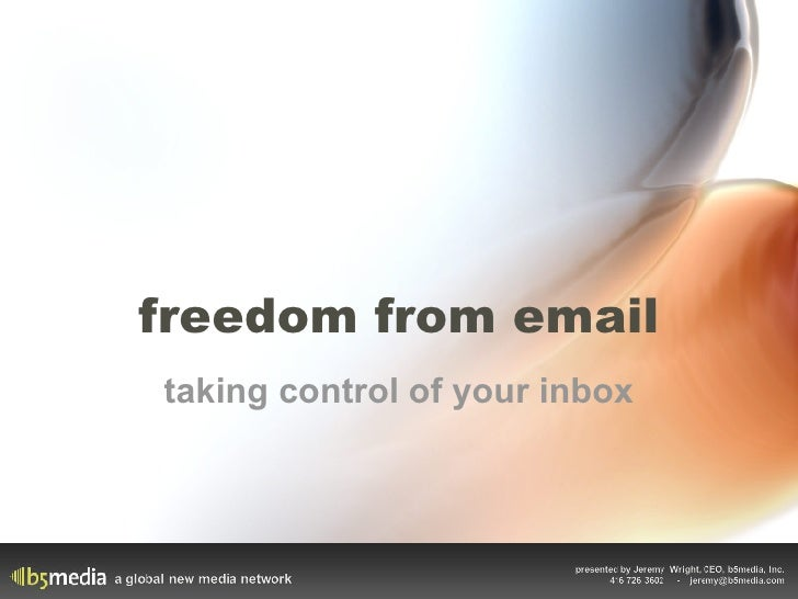 freedom from email taking control of your inbox