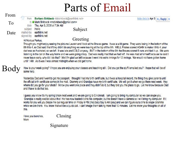 ... 12. Parts Of Email Body Signature Closing Greeting ...  Email Greeting