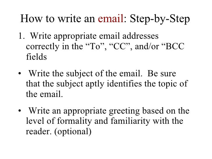 lesson plan how to write an email