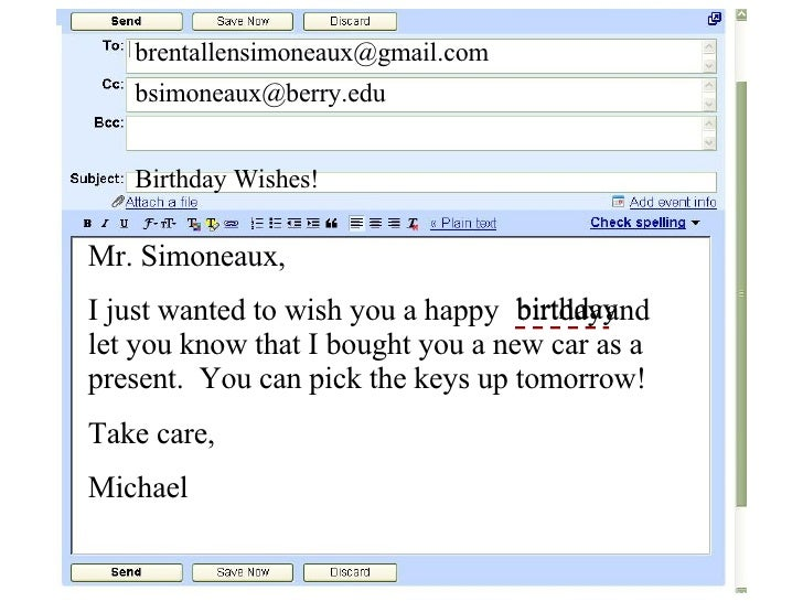 31 Email Address Birthday Wishes