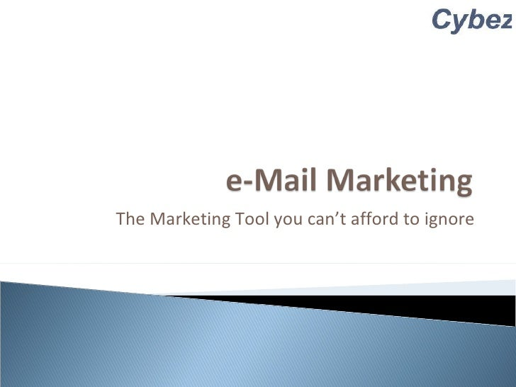 The Marketing Tool you can't afford to ignore