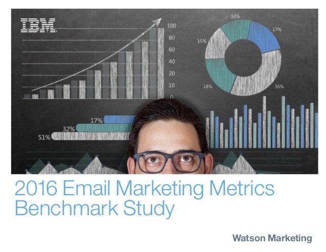 2016 Email Marketing Metrics Benchmark Study Watson Marketing