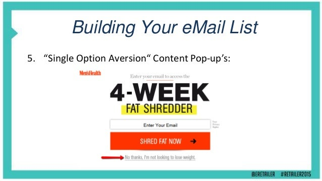 Building Your eMail List 6. Hack Qualaroo To Build Your List Fast: