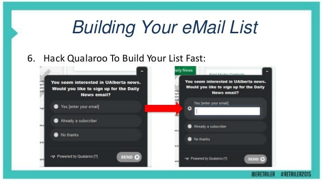 Building Your email List 7. Product Alerts & Pre-Order Lists: