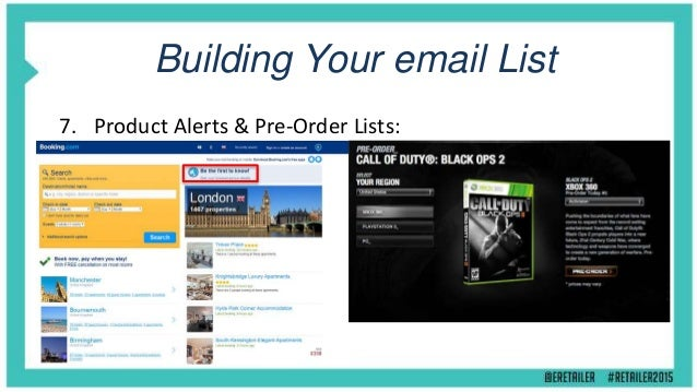Building Your eMail List 8. Facebook Page & Social Media (Twitter , Pinterest, etc): Sign-Up Form tab app Competitions & O...