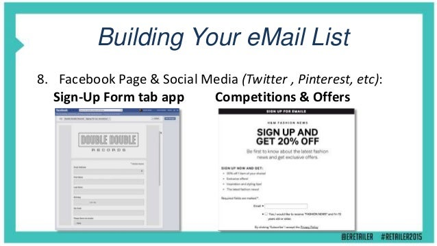Building Your eMail List 9. Gated & Downloadable Content: The Presentation Slides Are Available From: http://eepurl.com/bs...