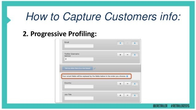 How to Capture Customers info: 5. Account Centre