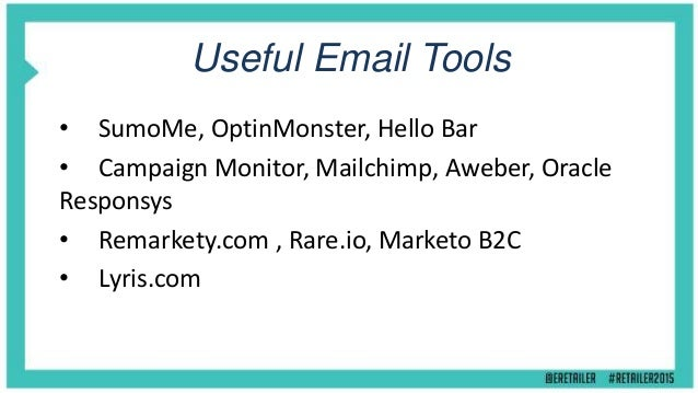 eMail Marketion Tips & Tactics - Online Retailer Conference 2015