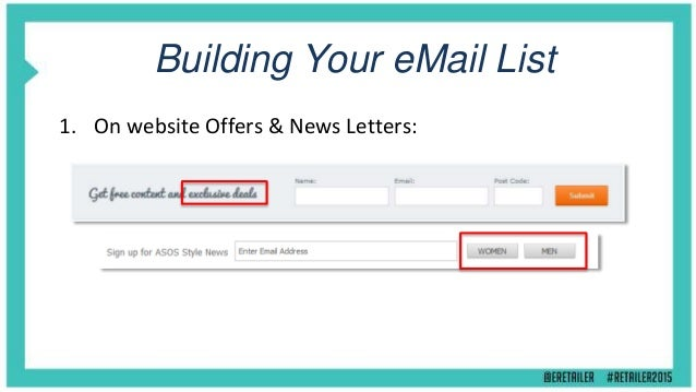 Building Your eMail List 2. Automatic Opt-in at Checkout: