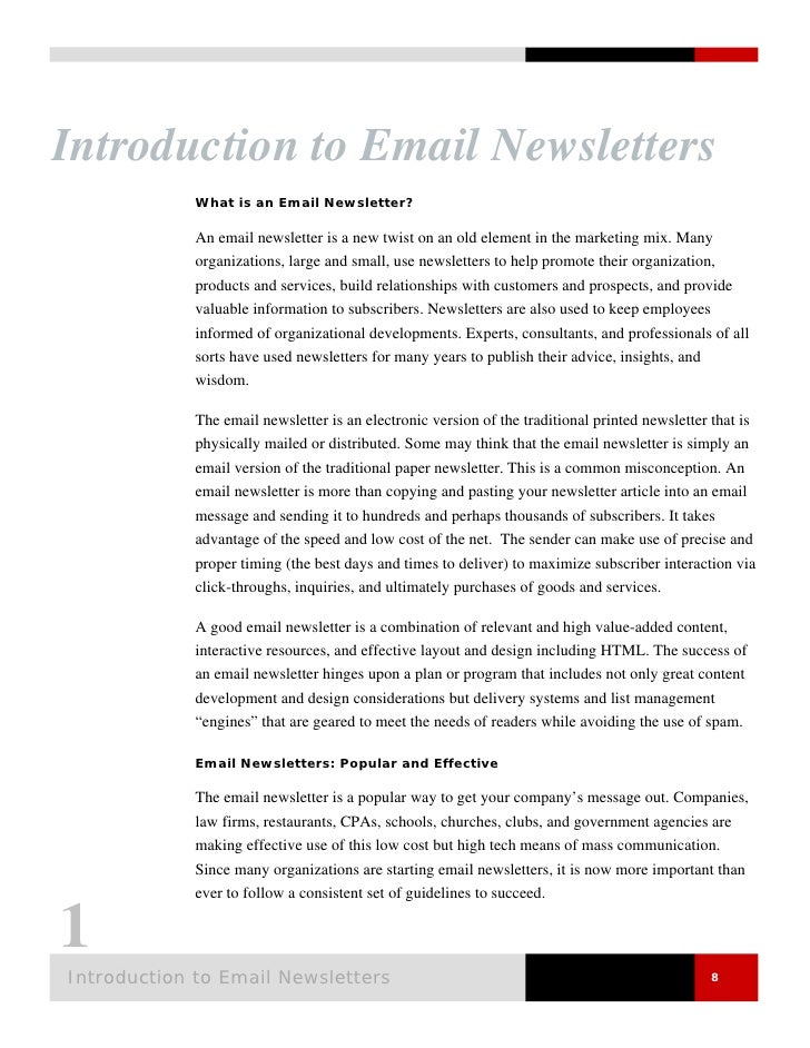 Email Newsletters 101