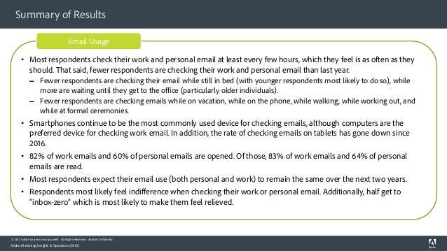 Adobe Consumer Email Survey Report 2017 Slide 3