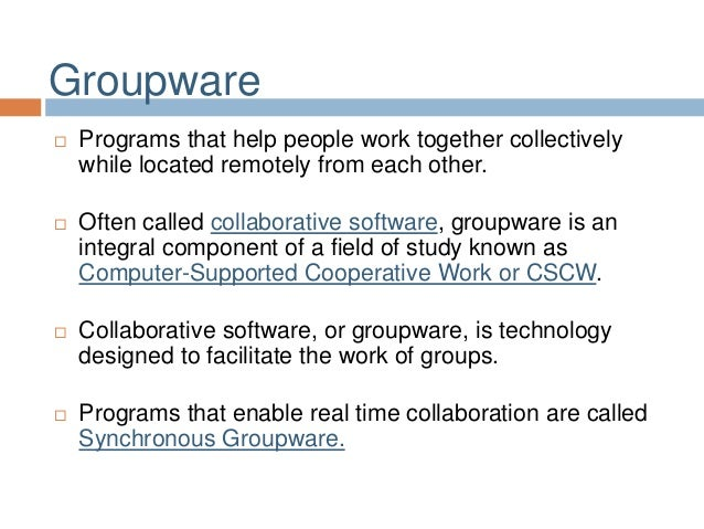 a groupware is a