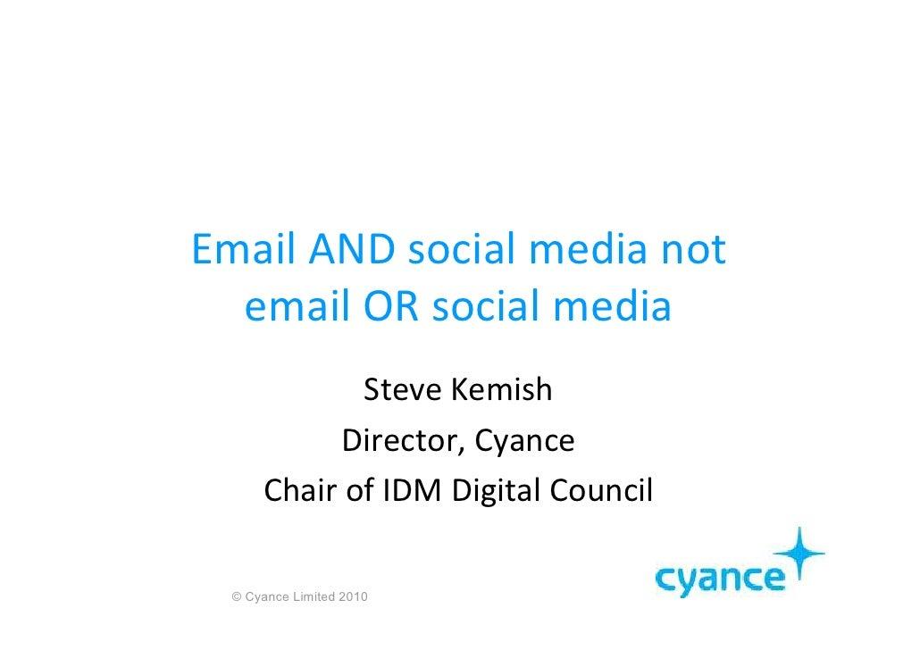 Email and Social Media 2010 Slide 2