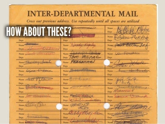 INTER-DEPARTMENTAL MAIL  Cross out previous address.  Use repeatedly until all spaces are utilized  *'—«—~-—.  A . » .  _ ...