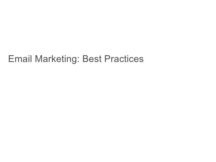 Email Marketing: Best Practices
