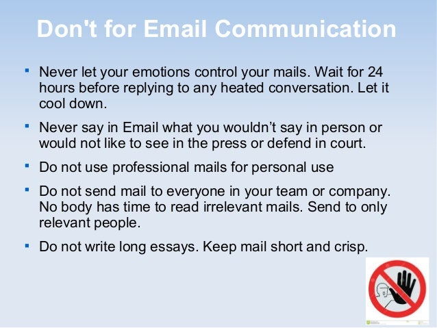 business communication how to write an email