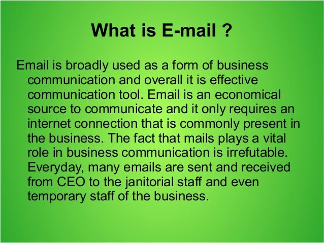 Email communication is apropos for business growth