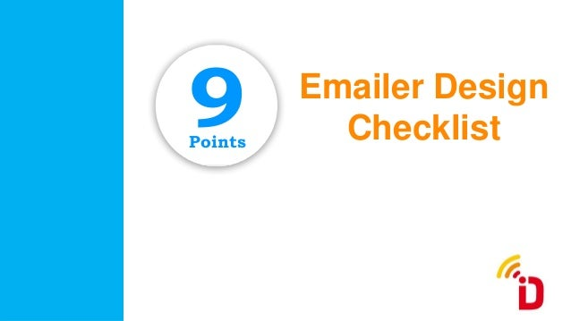 Emailer Design ChecklistPoints