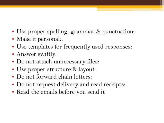 proper email edicate