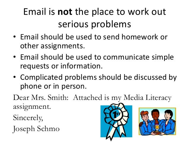 Email etiquette for students funny homework