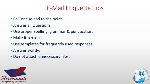 Email etiquette 18 e mail etiquette tips use proper structure layout altavistaventures Images