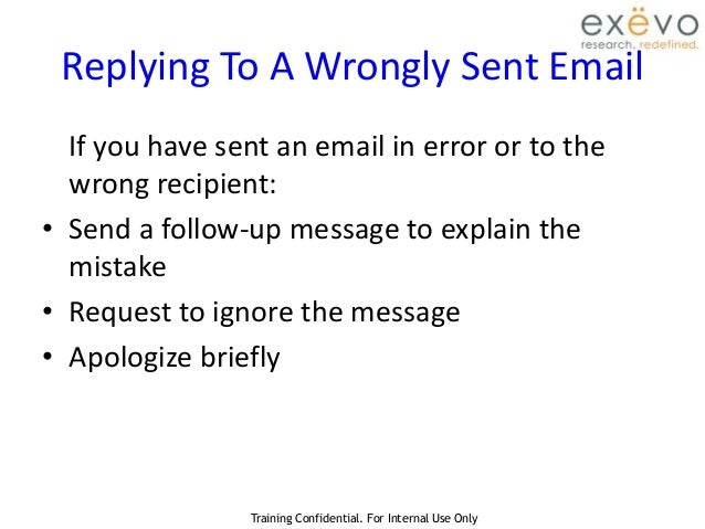 how to send a sorry email
