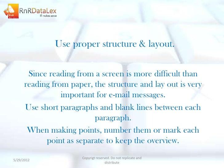 Email etiquettes distribute 10 use proper structure layout altavistaventures Images