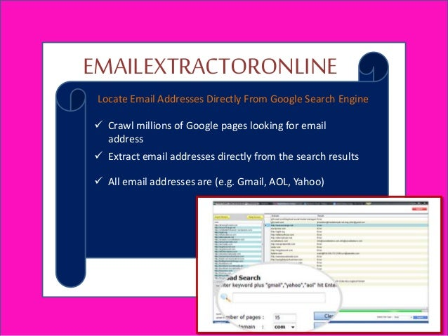 Email extractor online