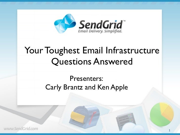 Your Toughest Email Infrastructure      Questions Answered             Presenters:     Carly Brantz and Ken Apple         ...