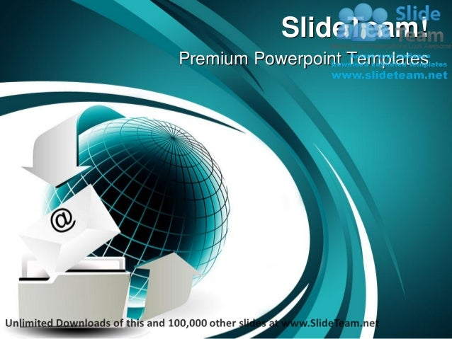 Email internet power point templates themes and backgrounds